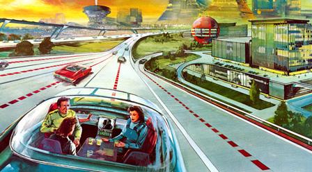Retro Futurism city