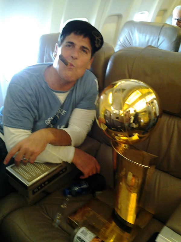 Mark Cuban On A Jet
