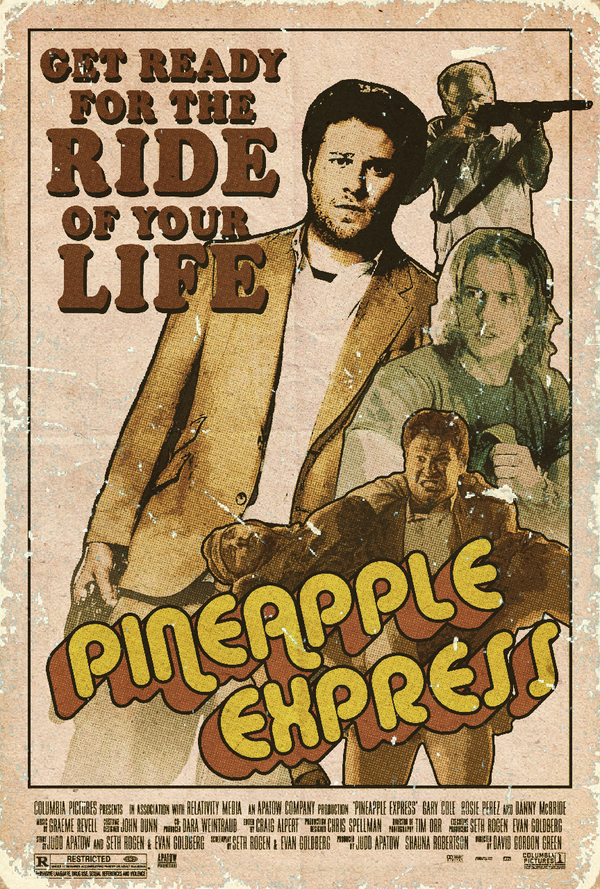 Pineapple Express Retro Poster