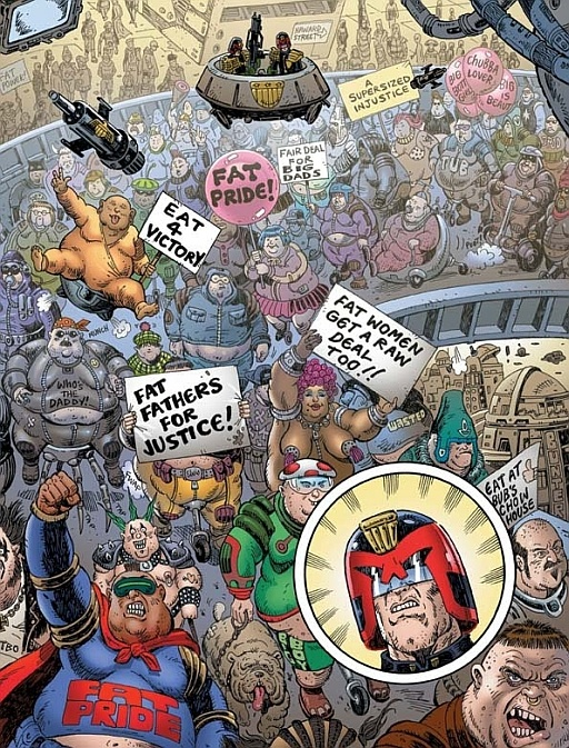 Judge Dredd Fat Protest