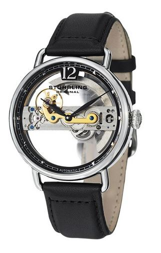 Stuhrling Original Men's Skeleton Watch