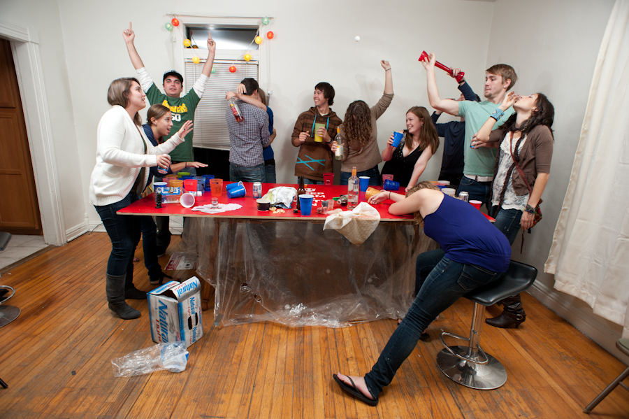 Mandatory Fun beer pong