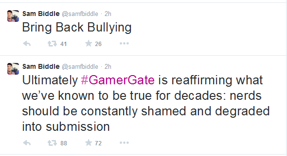 Sam Biddle Bullying Tweets
