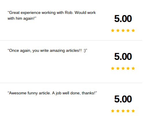 Earn five-star feedback on oDesk