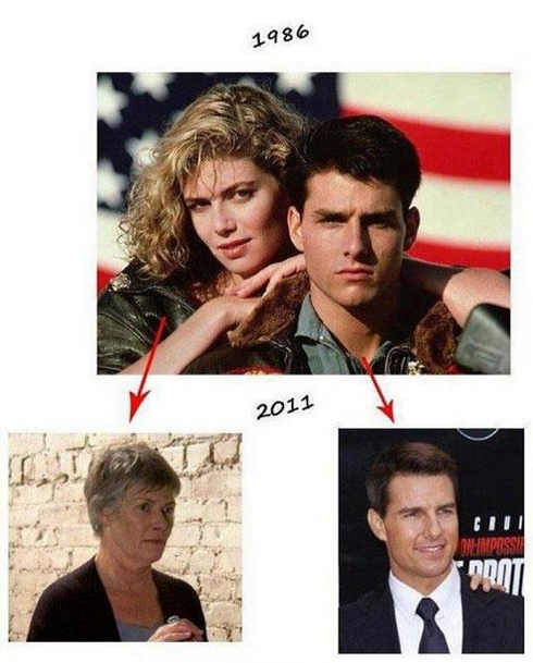 Tom Cruise aging
