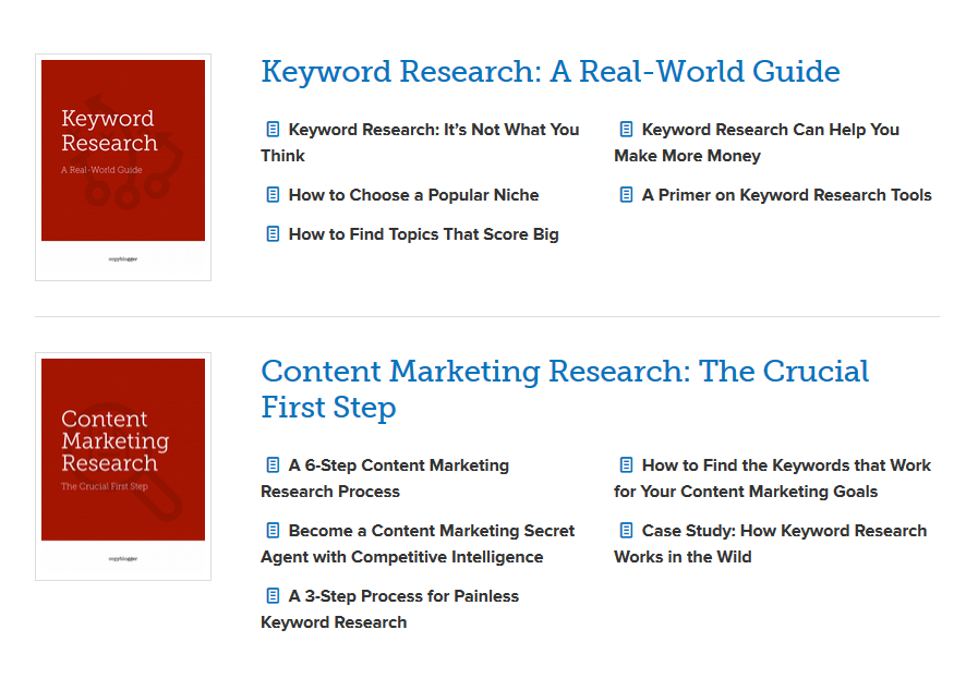 Copyblogger keyword book