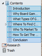 How To Make A Table Of Contents In Scrivener Select