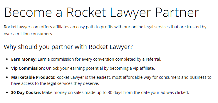 Affiliate Programs For Men - Rocket Lawyer