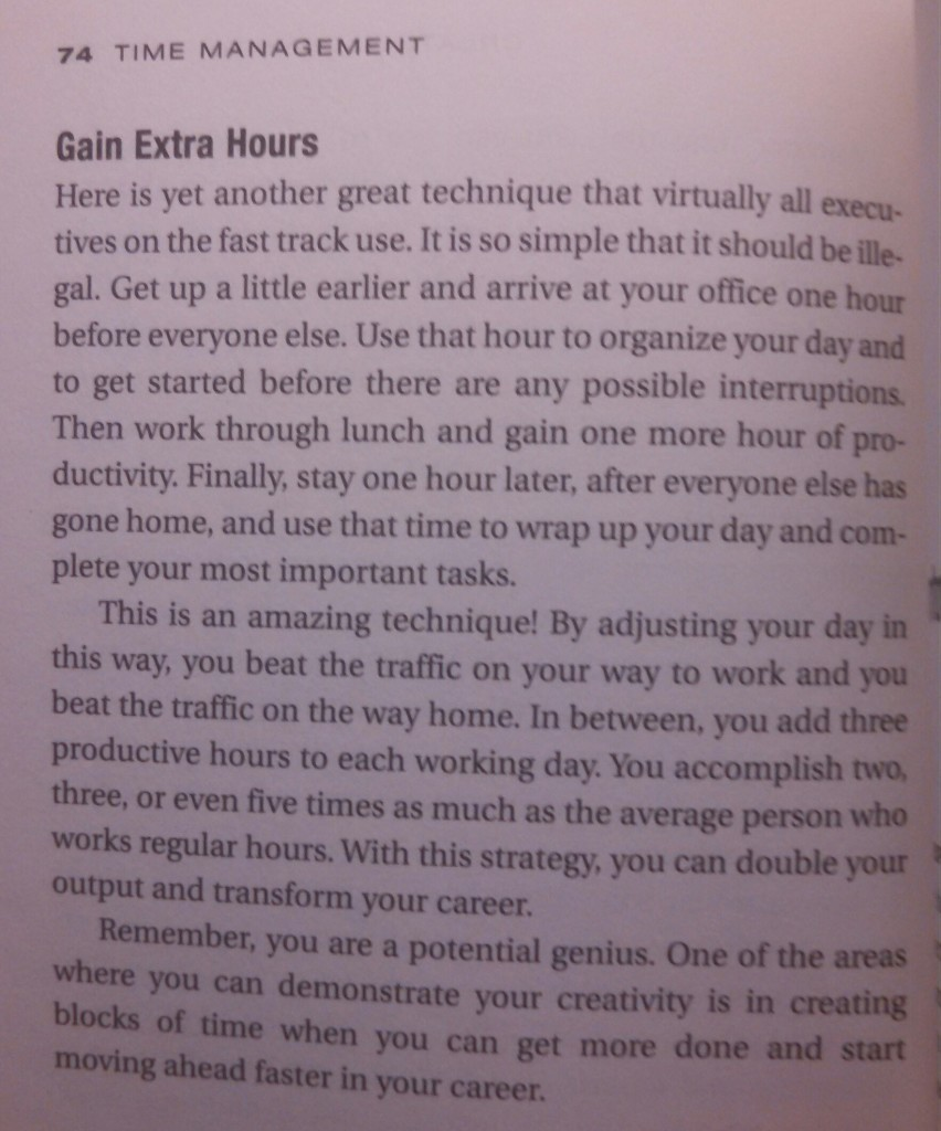 Brian Tracy Time Management Text