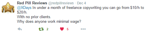 Freelance Copywriting Tweet